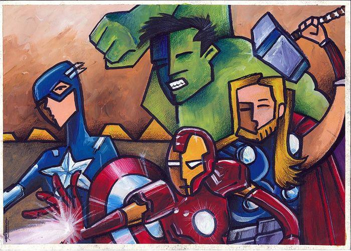 Avengers alá Picasso