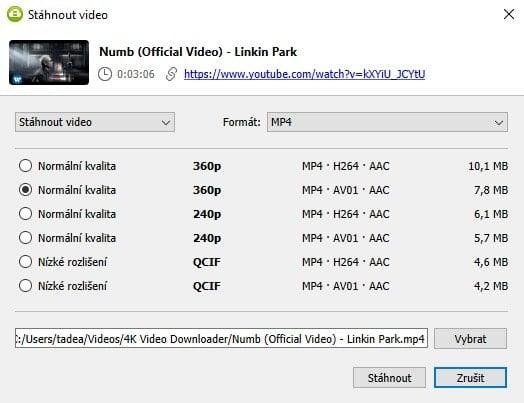 kvalita videa