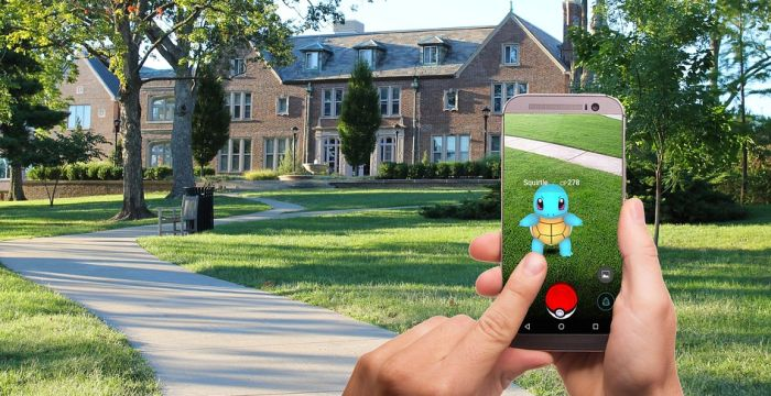 Rozšířená realita v aplikaci Pokémon Go