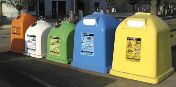Jak třídit odpad jaký odpad patří do kterého kontejneru